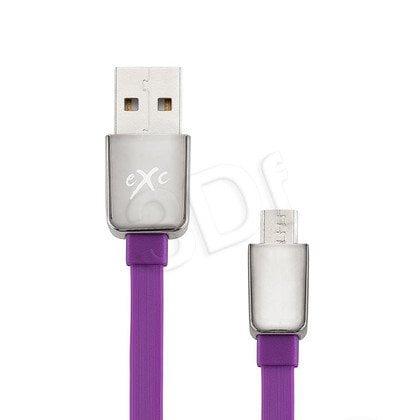 EXC UNIWERSALNY KABEL USB-MICRO USB, LINES, 2 METRY, FIOLETOWY