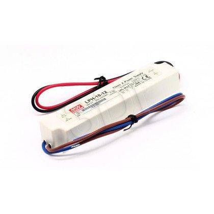 Zasilacz stałonapięciowy do LED MEAN WELL LPH-18-12 biały (12V 18W) biały
