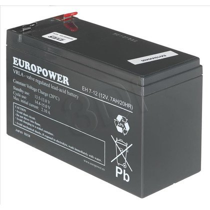 Akumulator EVER Do Ups Europower 12V 7Ah T2