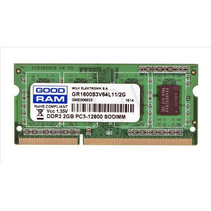 GOODRAM SO-DIMM DDR3 2048MB PC1600 CL11 1,35V