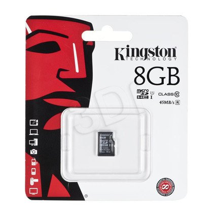 Kingston micro SDHC SDC10G2/8GBSP 8GB Class 10