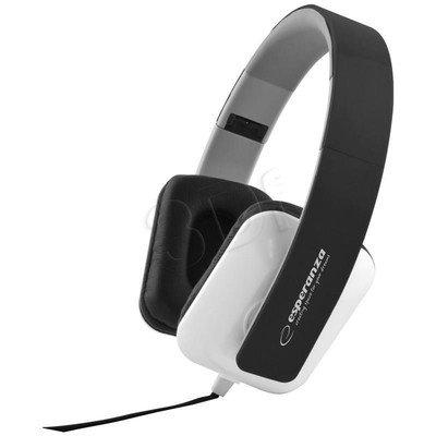 Słuchawki nauszne Esperanza JAZZ EH137K (Biało-czarne)