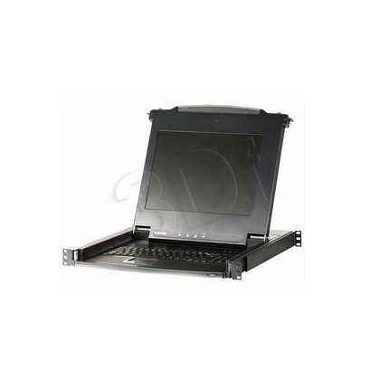 "ATEN CL-1008MA KVM 8 port LCD 17""+klawi+touchpad PS/2 19"" 1U"