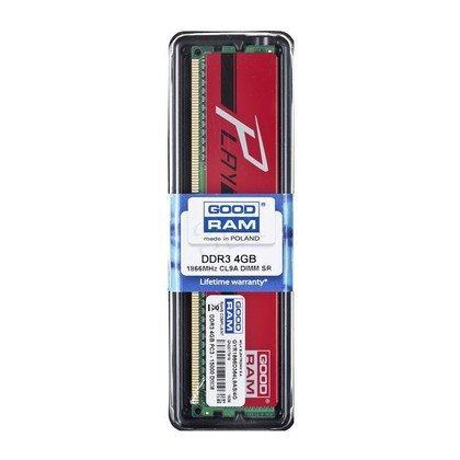 Goodram PLAY DDR3 DIMM 4GB 1866MT/s (1x4GB) Czerwony