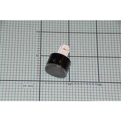 Pokrętło termostatu czarne chowane nadruk 6000 niepodświetlane (8047725)