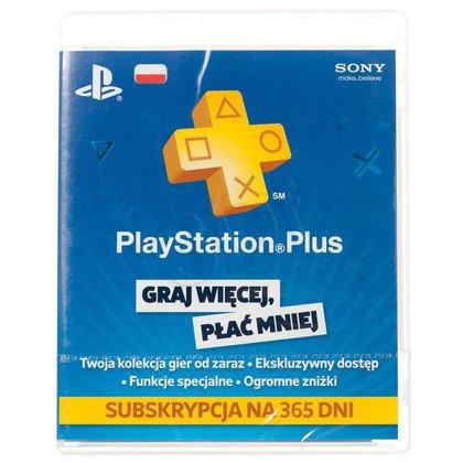Karta Playstation Plus 365 dni