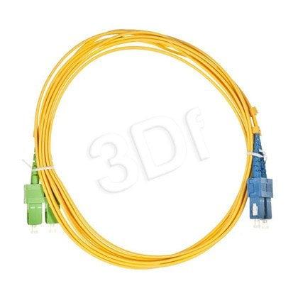 ALANTEC patchcord światłowodowy SM LSOH 3m SC/APC-SC duplex 9/125 żółty