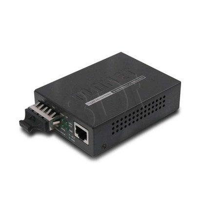 PLANET (GT-802S) Konwerter 10/100/1000BaseT <=> 1000BaseLX / SC / Single-Mode Max 10 Km