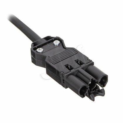 Bachmann 375.007 kabel połączeniowy 5m, wtyk kątowy, czarny