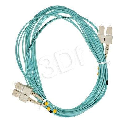 ALANTEC patchcord światłowodowy MM LSOH 5m OM3 SC-SC duplex 50/125 turkusowy