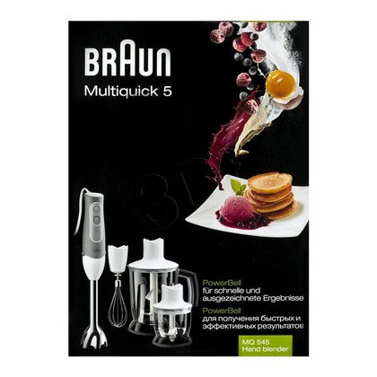 Blender ręczny Braun MQ545 Aperitif (600W/biało-szary)