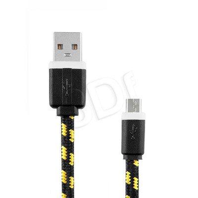 EXC UNIWERSALNY KABEL MICRO USB, SLIM, 1.5 METRA, CZARNY