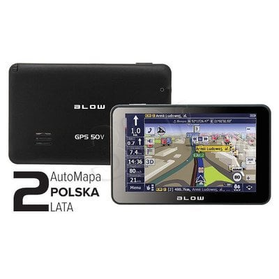 BLOW GPS50V + AUTOMAPA PL 2 LATA