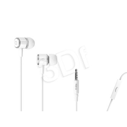 Słuchawki douszne z mikrofonem SBS Studio Mix 40 (Biało-szary)