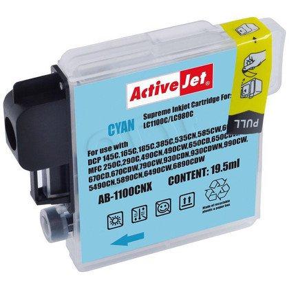 ActiveJet AB-1100CNX (AB-1100C) tusz Cyan do drukarki Brother (zamiennik LC1100C, LC980C)