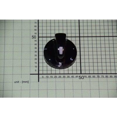 Pokrętło pola grzejnego 3 z lewej PMG610.00/09.273.01 czarne (8008594)