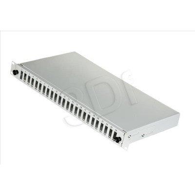 """FO Panel / Przełącznica 24xSC duplex 19"""" 1U z akcesoriami, szara"""
