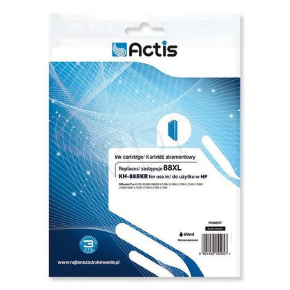 Actis KH-88BKR tusz czarny do drukarki HP (zamiennik HP 88XL C9396AE) Standard