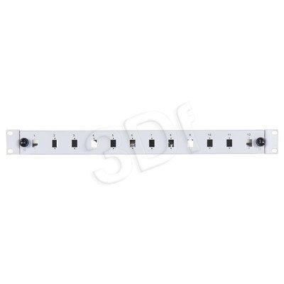 """Alantec FO Panel światłowodowy / Przełącznica 12xSC simplex 19"""" 1U z akcesoriami (dławiki, śruby, opaski)"""