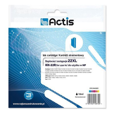 Actis KH-22R tusz trójkolorowy do drukarki HP (zamiennik HP 22XL C9352A) Standard