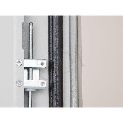 """Triton Szafa rack 19"""" stojąca RDE-42-A88-CCX-A1 (42U, 800x800mm, przeszklone drzwi, kolor jasnoszary RAL7035 , klasa szczelności IP54, udźwig 15"""