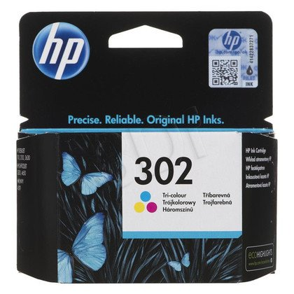 HP Tusz Kolor HP302=F6U65AE, 165 str., 4 ml