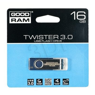 Goodram Flashdrive TWISTER 16GB USB 3.0 Niebieski