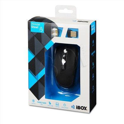 MYSZ I-BOX STEEL OPTYCZNA BEZPRZEWODOWA USB