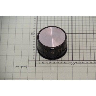 Pokrętło funkcji piekarnika czarne + nakładka inox (9064608)