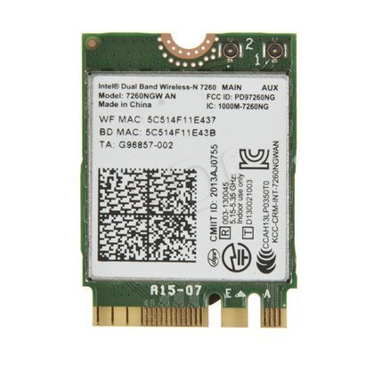 KARTA WI-FI INTEL DB WIRELESS-N 7260 2x2 AGN+BT M.2
