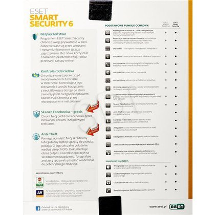 ESET SMART SECURITY BOX - 1 STAN/36M