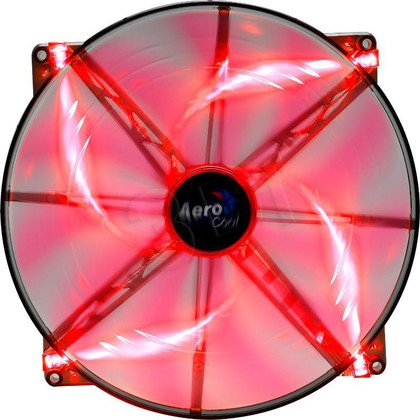 WENTYLATOR AEROCOOL MASTER RED LED - 200x200x20mm