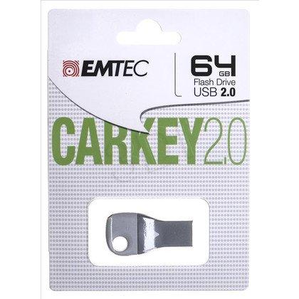Emtec Flashdrive CAR KEY D300 64GB USB 2.0 5 kolorów (niebieski, zielony, szary, pomarańczowy, różowy)