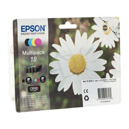 EPSON Tusz T1806=C13T18064010, Zestaw CMYK, T01801+T1802+T1803+T1804