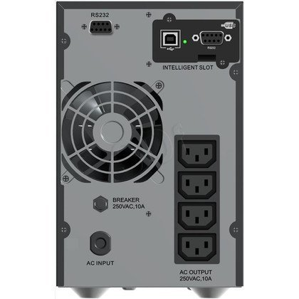 POWER WALKER UPS ON-LINE 1000VA, 4X IEC OUT, 2X RS-232, USB, LCD TOWER
