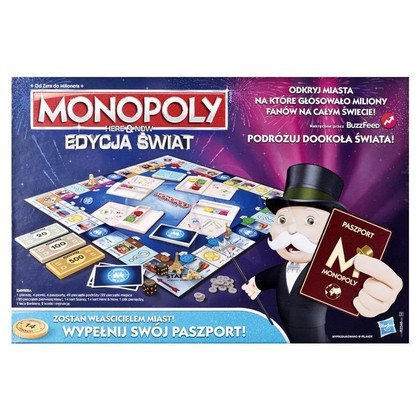GRA MONOPOLY HERE AND NOW EDYCJA ŚWIAT HASBRO B2348
