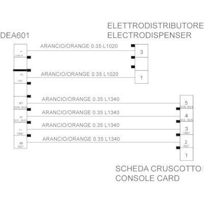 Wiązka kabli do dozownika DEA601 (C00281274)