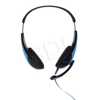 Słuchawki nauszne z mikrofonem 4World 09959 (Czarno-niebieski)