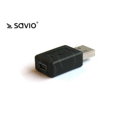 SAVIO ADAPTER USB MINI B ŻEŃSKIE - USB A MĘSKIE CL-13