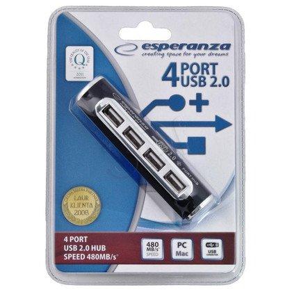 ESPERANZA HUB USB 2.0 4-PORTY ALUMINIUM EA115