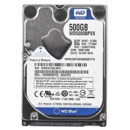 """Dysk HDD Western Digital BLUE 2,5"""" 500GB SATA 5400obr/min WDBMYH5000ANC-E"""