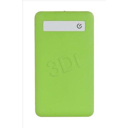 PowerNeed Powerbank P3300G 3300mAh USB biało-zielony