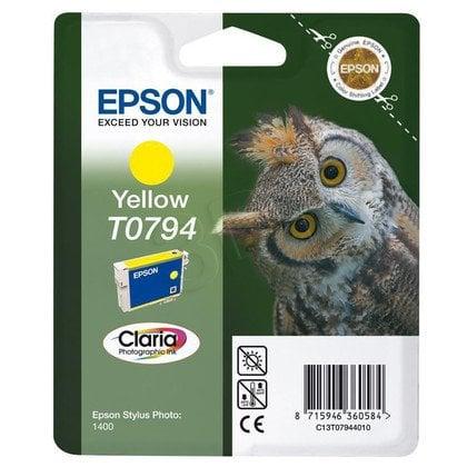 EPSON Tusz Żółty T0794=C13T07944010, 11 ml