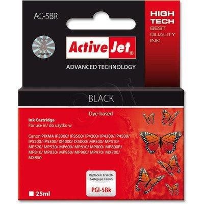 ActiveJet AC-5BR (ACR-5Bk) tusz czarny do drukarki Canon (zamiennik Canon PGI-5Bk) (chip)