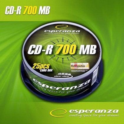 CD-R Esperanza 700MB/80MIN 52xSpeed (Cake 25szt)