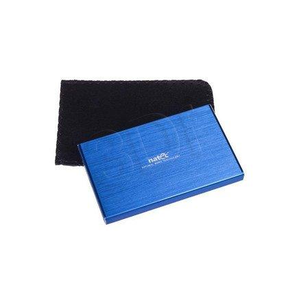 "NATEC OBUDOWA USB 3.0 HDD/SSD 2.5"" RHINO ALUMINIUM SLIM LIMITED EDITION BLUE"