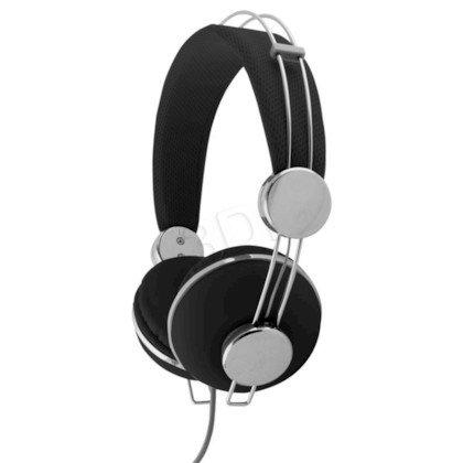 Słuchawki nauszne Esperanza MACAU EH149K (Czarno-srebrny)