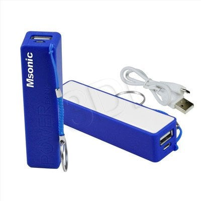 MSONIC POWER BANK 2500MAH, LI-ION MY2552B NIEBIESKI