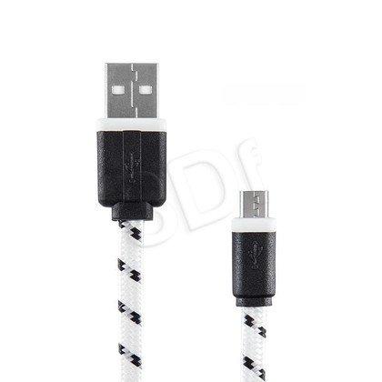 EXC UNIWERSALNY KABEL MICRO USB, SLIM, 1.5 METRA, BIAŁY