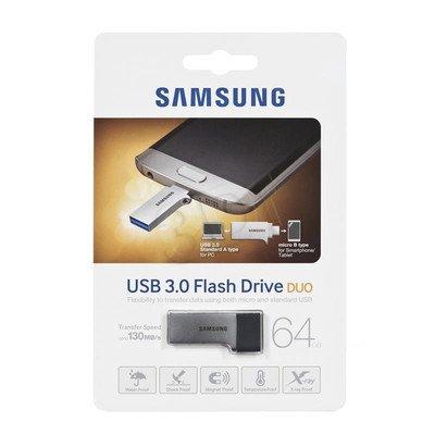 Samsung Flashdrive MUF-64CB/EU 64GB USB 3.0 Srebrno-czarny